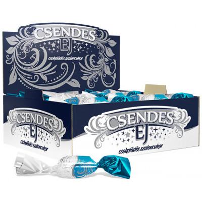 Csendes éj Kókuszos szaloncukor étcsokoládés 0,5kg   Rubik kocka