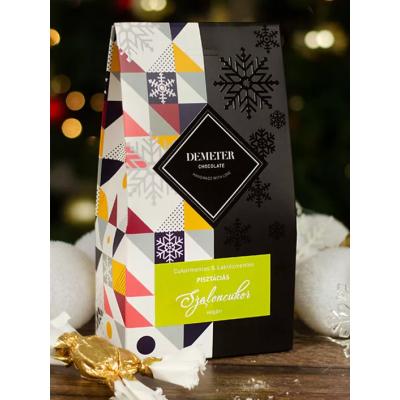 Cukormentes & Vegán Csokis Pisztáciás szaloncukor díszdobozban | Rubik kocka