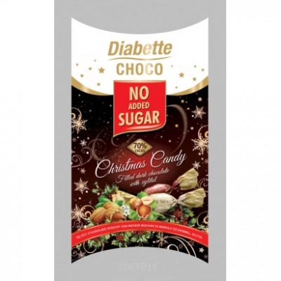 Diabette Choco töltött étcsokoládé szaloncukor mogyoró, mandula ízű krémmel édesítőszerrel, etrittel 250 g | Rubik kocka