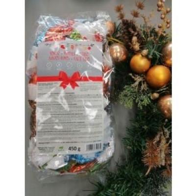 Health Market MIX vegyes gluténmentes szaloncukor étcsokoládéba mártva 450g | Rubik kocka