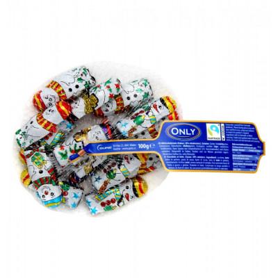 Only Hálós hóember tejcsokoládé 100g   Rubik kocka