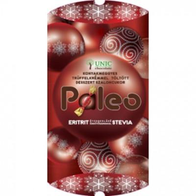 PALEO Konyakmeggyes csokoládékrémmel töltött étcsokoládé desszert szaloncukor, édesítőszerekkel 220 g | Rubik kocka