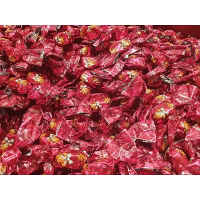 Prémium csengettyűs szaloncukor 1kg eper-tejszín