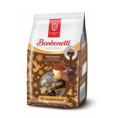 Bonbonetti rumos-kakaós szaloncukor tejcsokoládéval mártva 345g