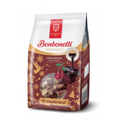 Bonbonetti szaloncukor 345 g kakaós-meggyes, tejcsokoládéval