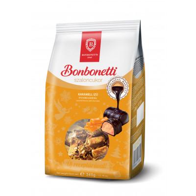 Bonbonetti szaloncukor 345 g karamell ízű, étcsokoládéval