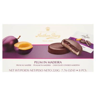 Anthon Berg csokoládé marcipánnal és Madeira likőrben lévő szilvával töltve 8 db