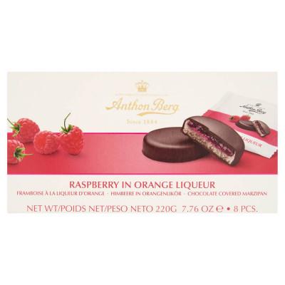 Anthon Berg csokoládé marcipánnal és narancslikőrös málnával töltve 8 db