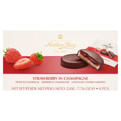 Anthon Berg csokoládé marcipánnal és pezsgőben lévő eperrel töltve 8 db