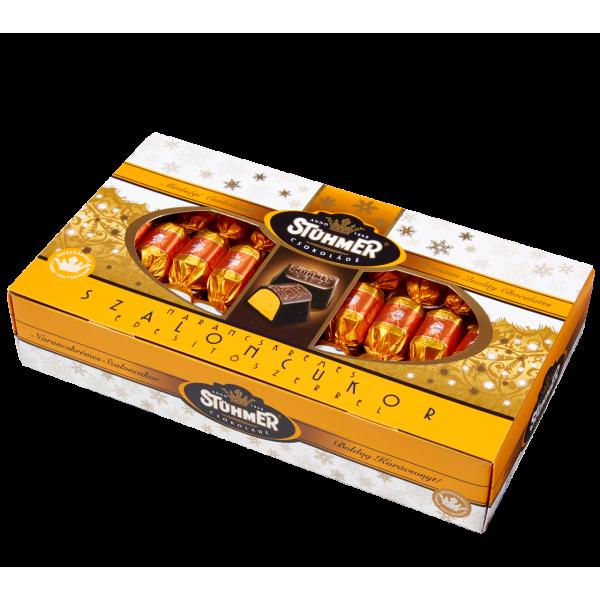 Stühmer hozzáadott cukrot nem tartalmazó Narancskrémes-fahéjas szaloncukor 340 g   Rubik kocka