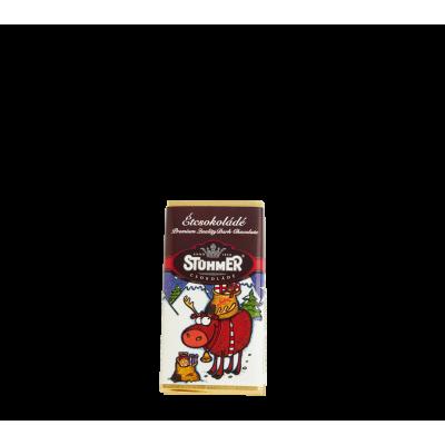 Étcsokoládé táblácska karácsonyi 20g | Rubik kocka