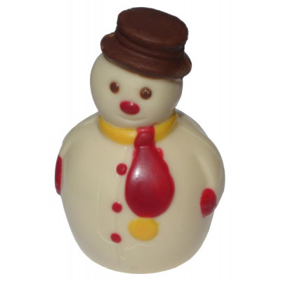 Kézműves hóember fehér csokoládéból 50 g   Rubik kocka