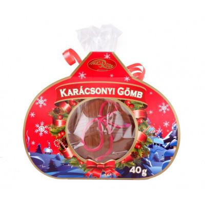 Kézműves karácsonyfa díszgömb 200 g - csokoládé vegyesen   Rubik kocka