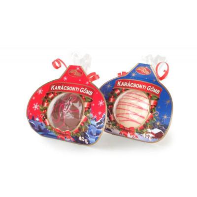Kézműves karácsonyfa díszgömb 40 g - csokoládé vegyesen   Rubik kocka