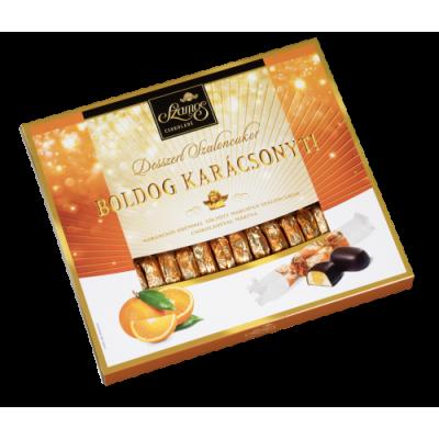 Szamos Desszert marcipán szaloncukor 340 g narancsos, díszdobozos